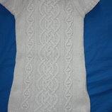 Классное теплое шерсть котон платье ф.H&M р-110/116
