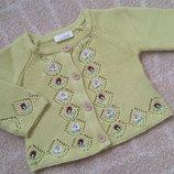 Яркая салатовая вязания кофта Next свитер джемпер