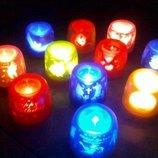 Сенсорная электронная свеча с мерцающими силуэтами electronic candle