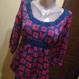 Фирменная блуза 100% шелк