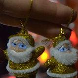 Дед Мороз / Санта Клаус с барабаном-ёлочная Игрушка, Новогодний декор, украшение