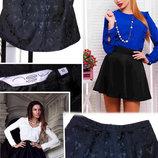 Эксклюзивная черная юбка с необычайно красивой текстурой new look