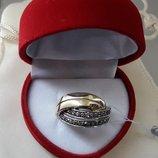 Золотое кольцо с бриллиантами размер 17,5