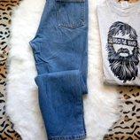 Очень плотные мужские джинсы синие голубые