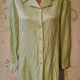 Etam 73% вискоза . Атласная блуза блузка блузон рубашка сорочка . Большой размер