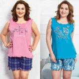 Пижама женская майка и шорты 1XL-4XL