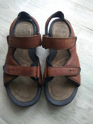 Кожаные босоножки сандалии Clarks отл.сост, 28см