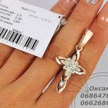 Срібний хрестик, серебряный крест, срібло з напаяними пластинками золота, серебряные украшения