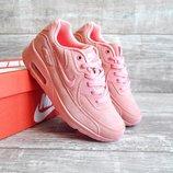 Кроссовки женские Nike Air Max розовые замш