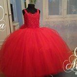Нарядное детское платье праздничное выпускной пышное вечернее в пол