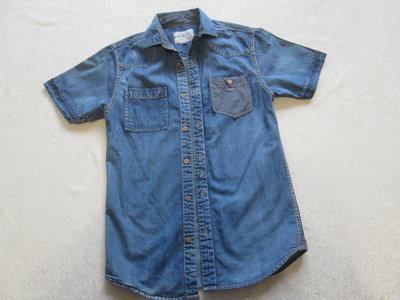 Рубашка джинсовая на подростка размер XS