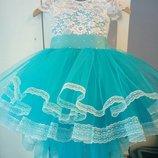 Нарядное детское платье праздничное выпускной утренник на девочку