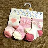 Носочки новорожденным от F&F из Англии