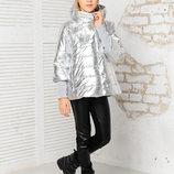 Ультрамодная куртка со съемными манжетами для девочки 122-152р