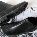 Мужские и подростковые стильные ботинки Timberland челси натуральная кожа оксфорд men