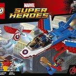 LEGO Super Heroes Конструктор Лего супергерои 76076 Капитан Америка воздушная погоня