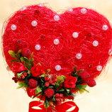 Топиарий-Сердце - подарок на день влюбленных