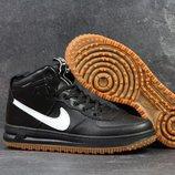 Nike Lunar Force 1 кроссовки мужские черно-белые 4352