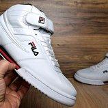Кроссовки мужские Fila Original Fitnes Premium white высокие