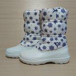 Зимние непромокаемые женские сноубутсы-дутики