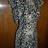 Короткое платье, нарядное платье, леопардовое платье, женское платье, платье с коротким рукавом