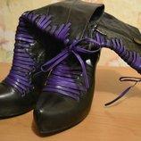 Демисезонные сапоги 39 р , ботинки деми, деми сапоги на каблуке, сапоги на каблуке, сапоги женские