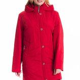 Деми куртка больших размеров рр 54- 70 от производителя sku-78 красный