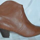 Ботильони черевики even&odd розмір 42 41, ботинки кожа