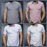 Турецкие мужские рубашки в стиле поло. Размер М. L. XL. XХL