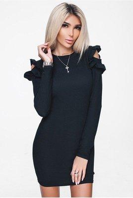 f9def107cf3f567 Обворожительное короткое платье черного цвета 42-52р: 350 грн ...