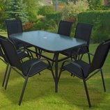 Садовая мебель набор стол 6 стульев Польша