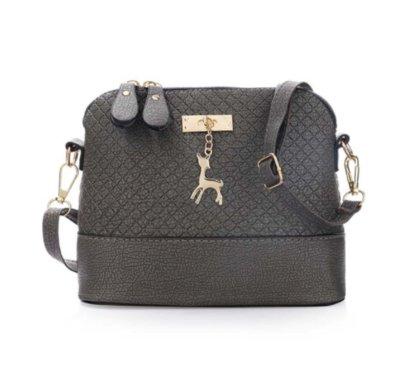56d527d8ad3c Сумка женская серая, черная с брелком - олененком  345 грн - сумки ...