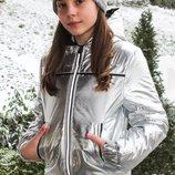 Серебряная куртка весна, осень для девочек Новинка 2018