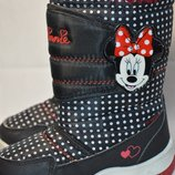 Термо ботинки сапоги Disney Дисней с Minnie mouse 26р.