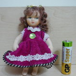 Фарфоровая кукла, малышка 10см.