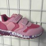 Кроссовки летние детские со светящей подошвой . цвет розовый арт. 1444/2 Пр-Во Promax Турция .