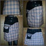 Шикарная юбка, расцветка Burberry, размер регулируется от M - XL