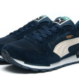 Кроссовки мужские Puma,замша,темно-синий