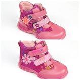 Демисезонные ботинки ботиночки для девочки KLF кожа на весну 26-31р