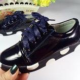 Кеды,мокасины,туфли для девочки р-р 27-31 фирмы Солнце цвет синий