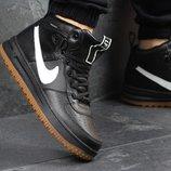 Кроссовки мужские кожа Nike Lunar Force 1 black/white
