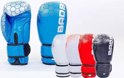 Перчатки боксерские на липучке Bad Boy 5434 10-12 унций, кожа