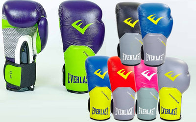 Перчатки боксерские на липучке Elast Pro Style Elite 5228 10-12 унций, кожа