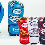 Перчатки боксерские на липучке Twins 5436 10-12 унций, кожа
