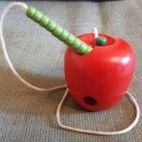 Шнуровка деревянная Яблочко