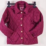 Весенняя курточка YD цвета бордо для девочки 7-8 лет, 122-128 см