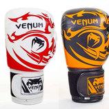 Перчатки боксерские на липучке Venum Tribal 5777 10-14 унций, кожа
