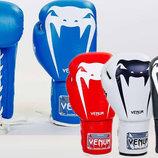 Перчатки боксерские на липучке Venum Giant 5786 10-14 унций, кожа