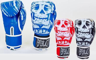 Перчатки боксерские на липучке Elast Skull 5493 8-12 унций, Flex 3 цвета