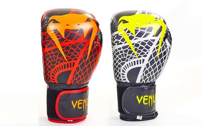 Перчатки боксерские на липучке Venum Snaker 5795 4-12 унций, Flex
